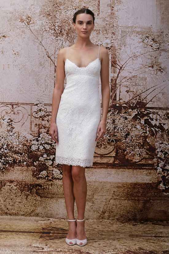 Wedding dress by Monique Lhuillier Fall 2014 bridal Look 8