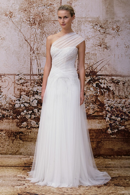 Wedding dress by Monique Lhuillier Fall 2014 bridal Look 12