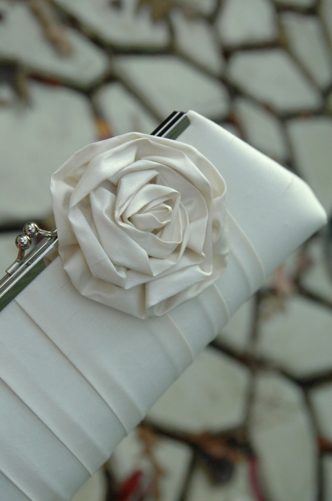 photo of Rose Blossom bridal clutch by It's So Clutch