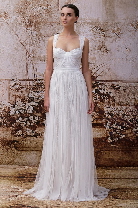 Wedding dress by Monique Lhuillier Fall 2014 bridal Look 13