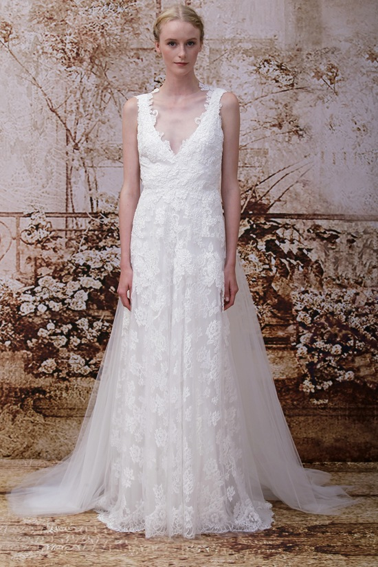 Wedding dress by Monique Lhuillier Fall 2014 bridal Look 14
