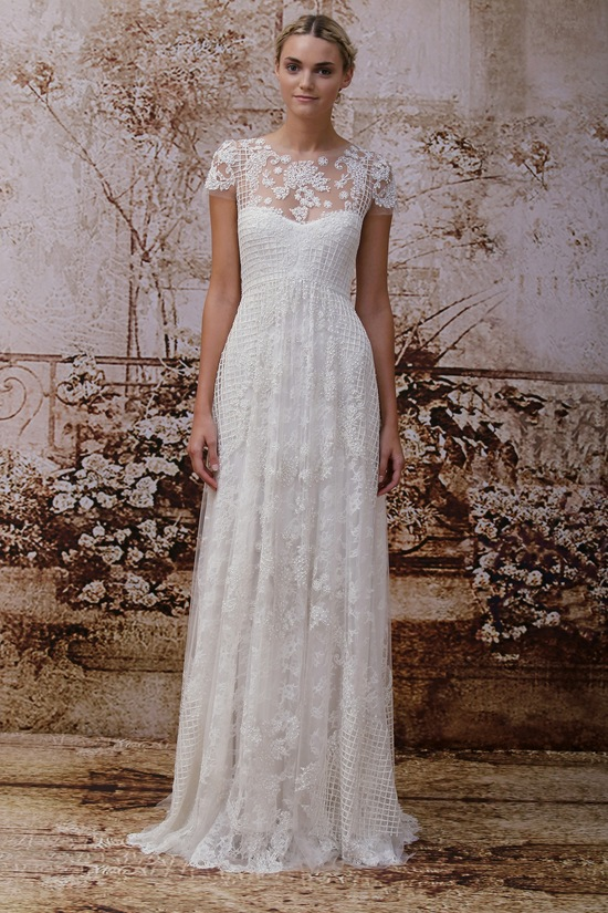 Wedding dress by Monique Lhuillier Fall 2014 bridal Look 17