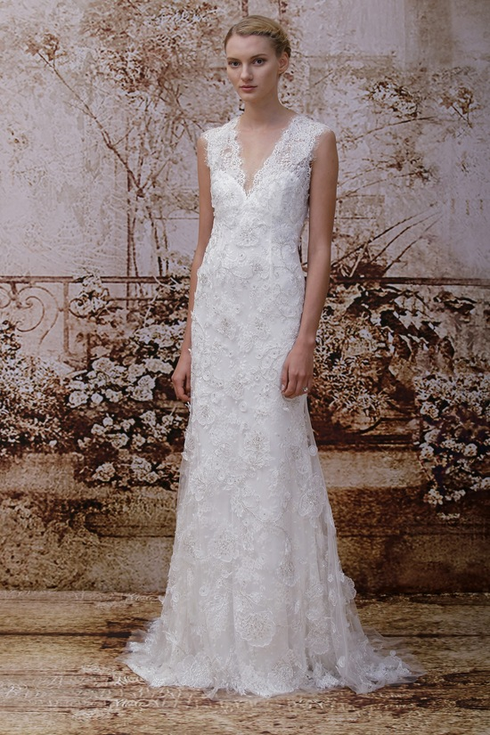 Wedding dress by Monique Lhuillier Fall 2014 bridal Look 20