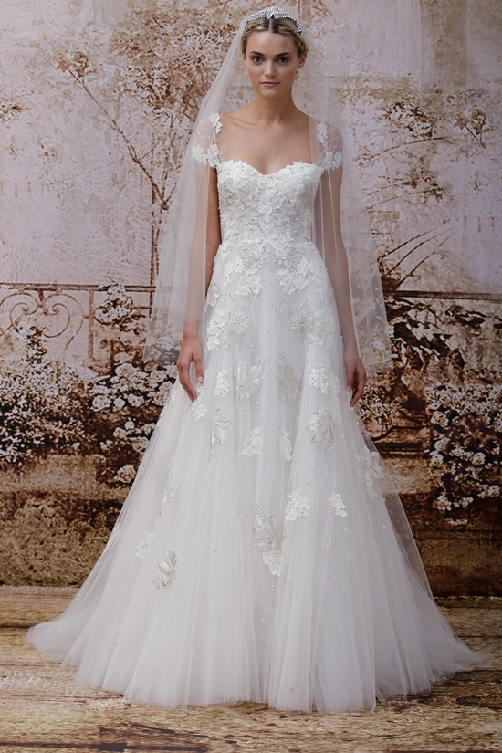 Wedding dress by Monique Lhuillier Fall 2014 bridal Look 23