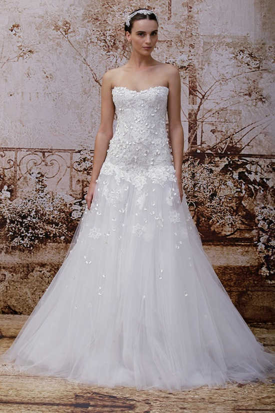 A-Line Applique Wedding Dress