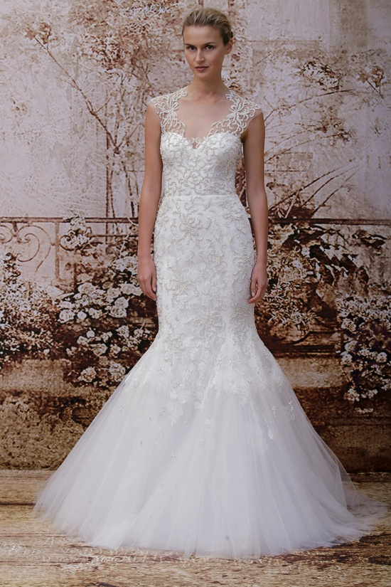 Wedding dress by Monique Lhuillier Fall 2014 bridal Look 26