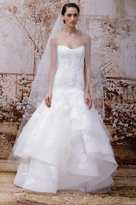 Wedding dress by Monique Lhuillier Fall 2014 bridal Look 30