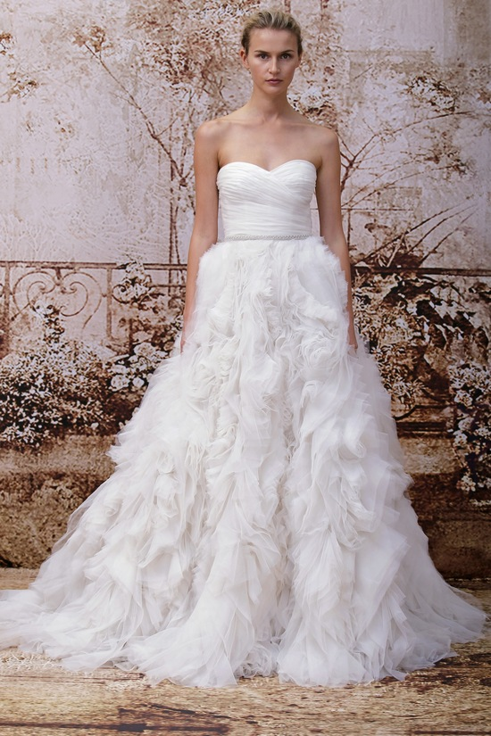 Wedding dress by Monique Lhuillier Fall 2014 bridal Look 32