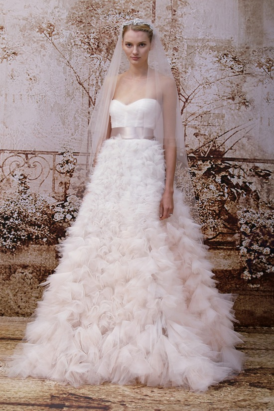 Pale Ruffles Wedding Dress