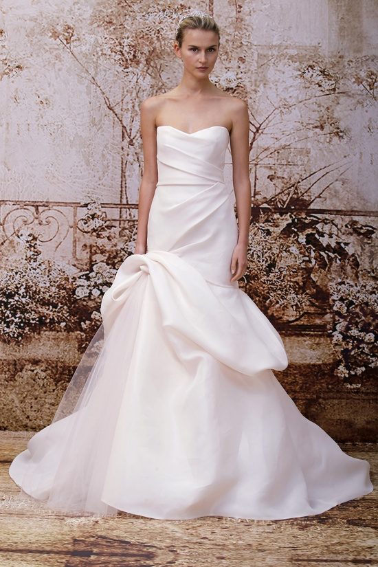Wedding dress by Monique Lhuillier Fall 2014 bridal Look 36