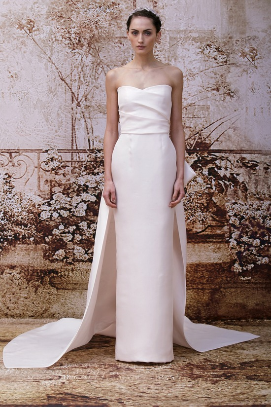 Wedding dress by Monique Lhuillier Fall 2014 bridal Look 37