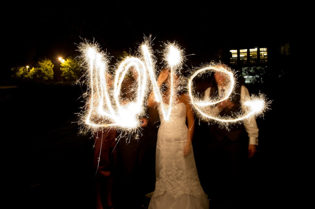 Bride-groom-spell-love-with-sparklers-wedding-reception-pictures.full