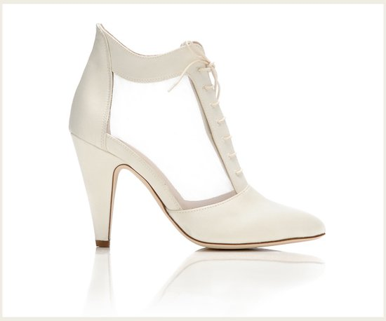 Vintage-inspired bootie wedding shoe by Loeffler Randall