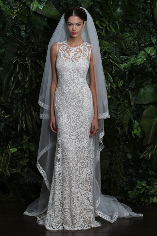 wedding dress by Naeem Khan fall 2014 bridal Valencia