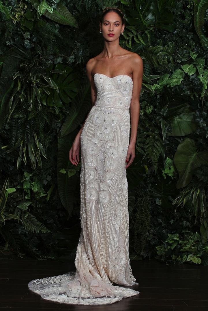 Wedding dress by naeem khan fall 2014 bridal miami for Miami wedding dresses