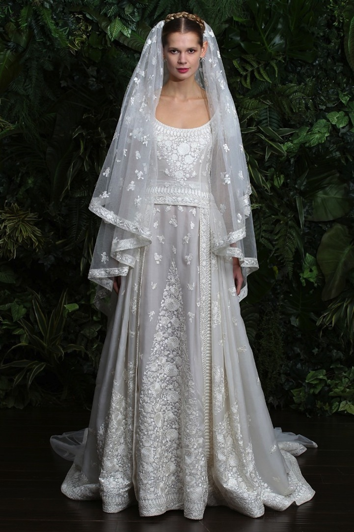 Wedding dress by naeem khan fall 2014 bridal look 3 for Naeem khan wedding dress
