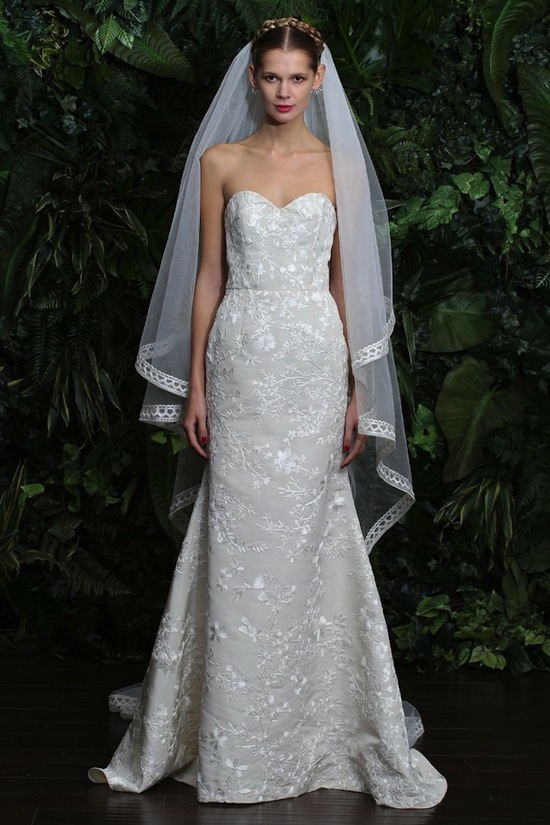 wedding dress by Naeem Khan fall 2014 bridal look 4