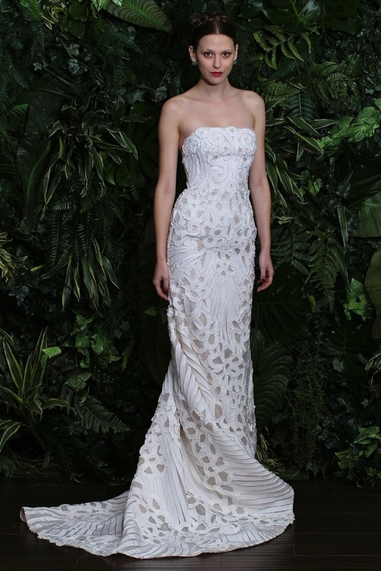 wedding dress by Naeem Khan fall 2014 bridal look 11