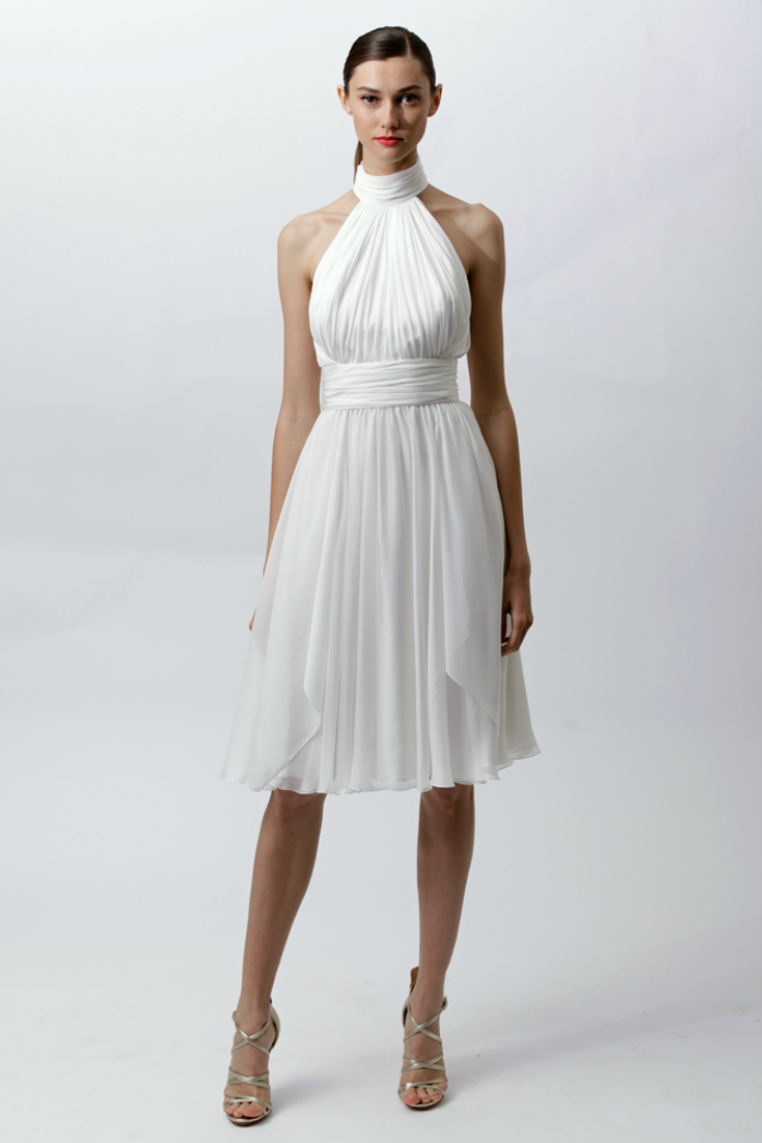 Vintage inspired wedding reception dress by badgley for Best dress for wedding reception
