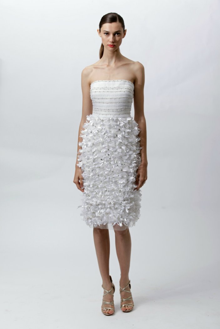 Embellished wedding reception dress by Badgley Mischka