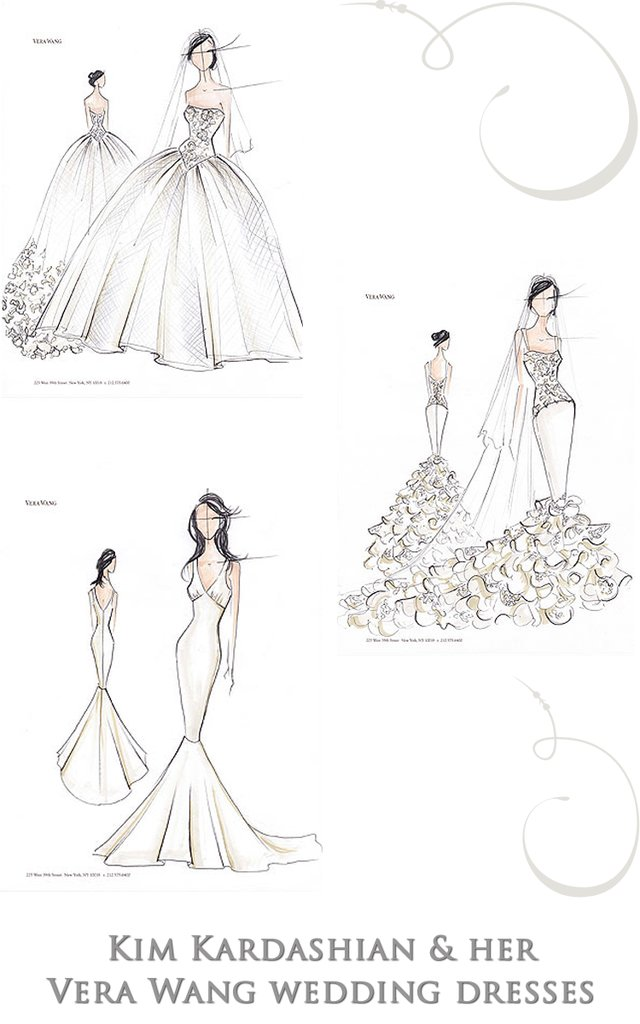 photo of See Kim Kardashian's Three Wedding Dresses by Vera Wang!