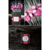 Real-wedding-reception-details-wedding-guest-favors-pink-brown-color-palette.square