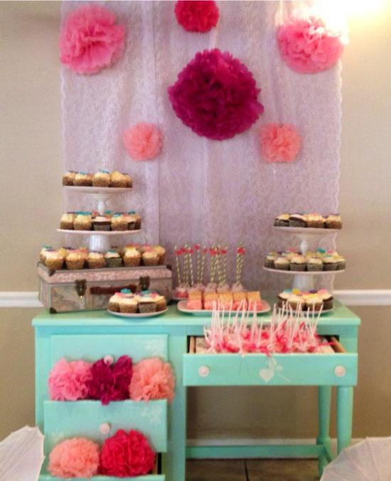 tiffany dessert table