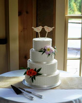Dot Wedding Cake Quonquont Farm Sept 2013