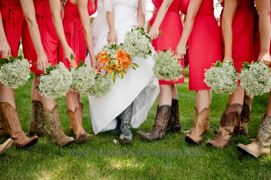 Bride and Bridesmaids Boots