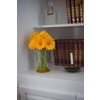 Metallic-wedding-trends-vintage-bookshelfs-yellow-wedding-flowers-gerbera-daisies-5.square