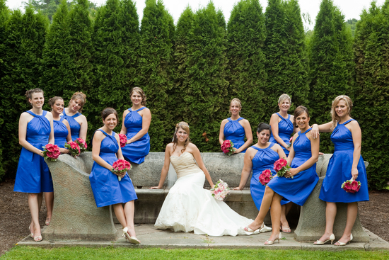 Bride and Bridesmaids Outdoor Photoshoot