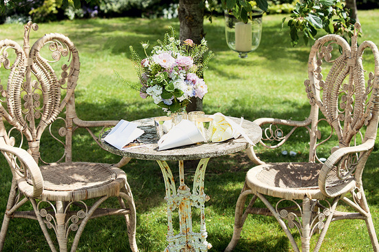 Enchanted garden wedding reception vibe at Kate Moss' wedding