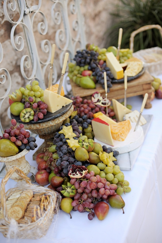 Fruits and Veggies Wedding Dessert Table