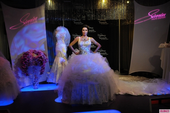 Kim Kardashian's wedding day, remembered with a wax figure