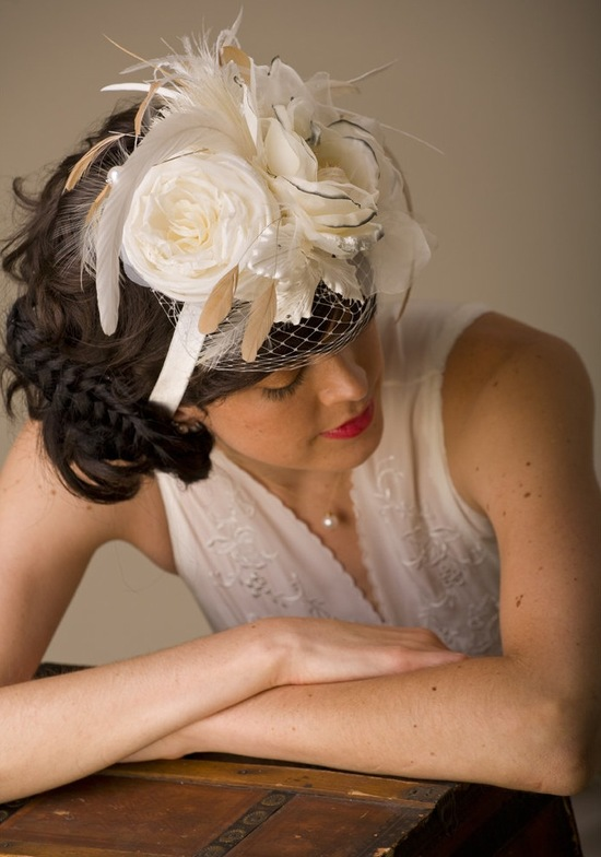 photo of Mini saucer wedding hat