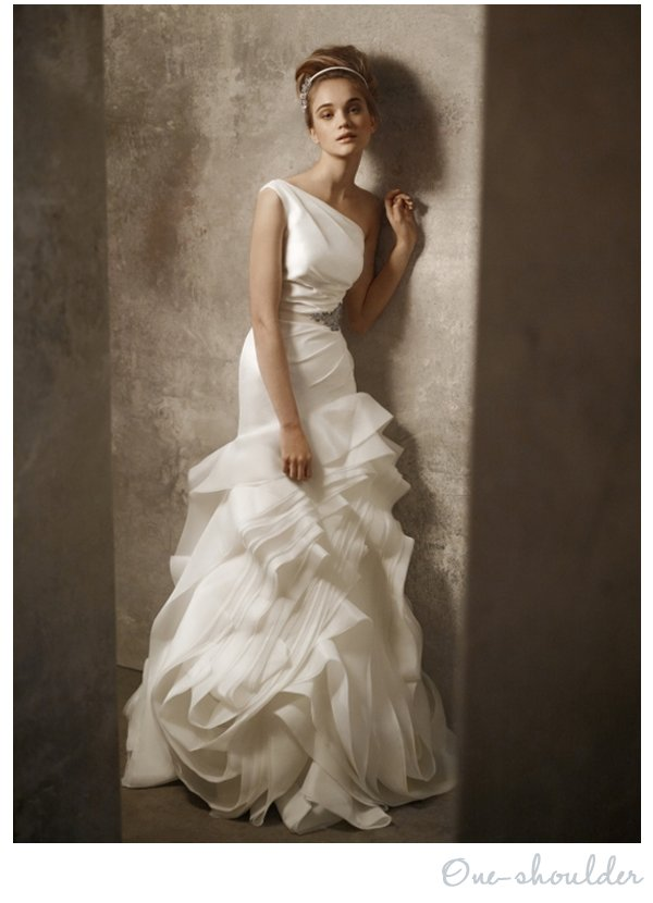 shoulder White by Vera Wang wedding dress