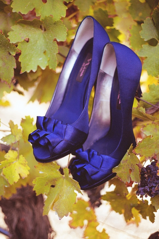 Classic Blue Violet Wedding Shoes