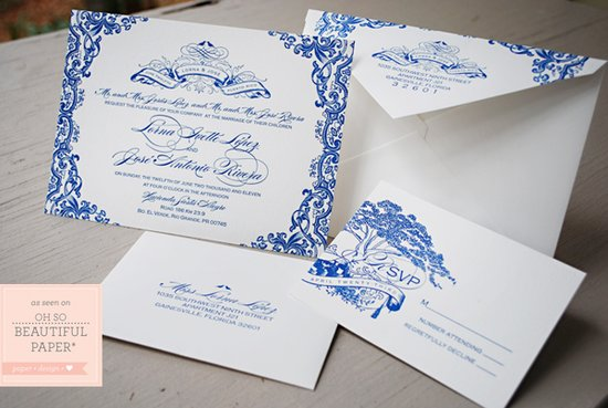 BluePuertoRicoWeddingInvitation