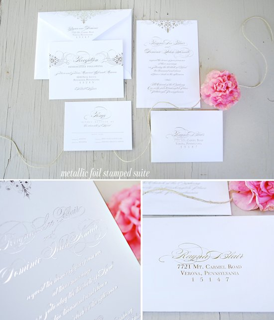 SilverFoilStampWeddingInvitation