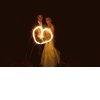 Destination-bride-groom-mermaid-wedding-dress-sparklers-on-beach.square