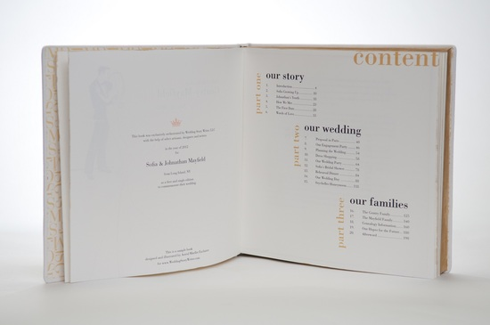 Wedding Story Writer book photo copyright IWP Photography 4
