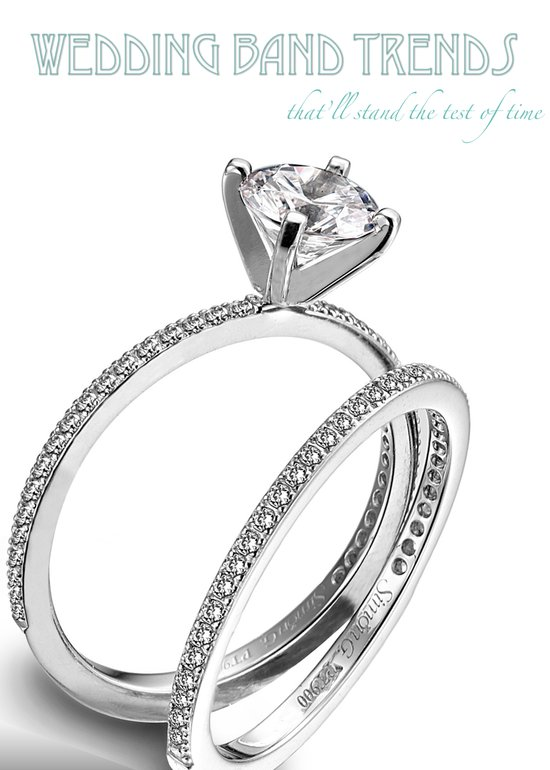 Top three 2011 wedding trends for platinum wedding bands and engagement rings