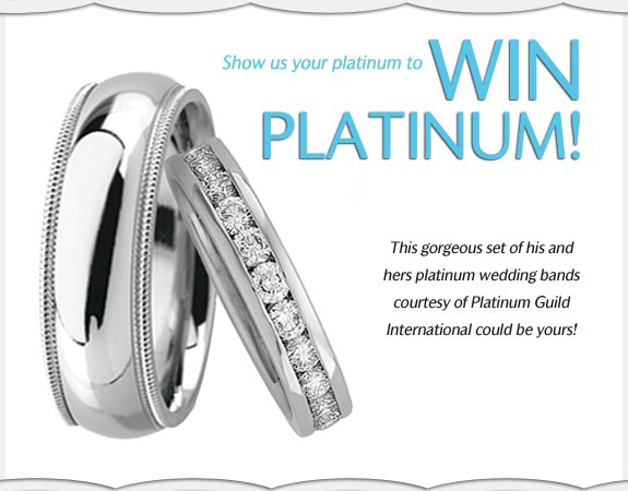WIN platinum and diamond wedding bands!