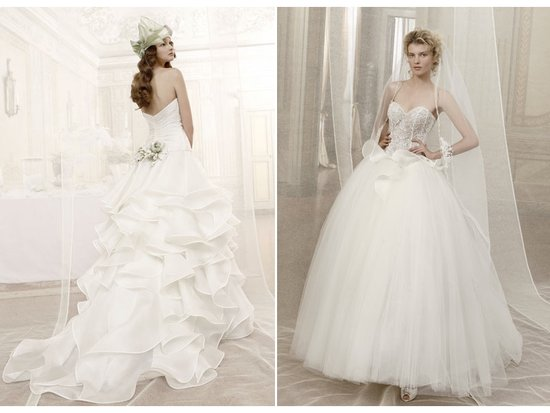 Romantic wedding dress with beaded bridal corset, tulle ballgown wedding dress