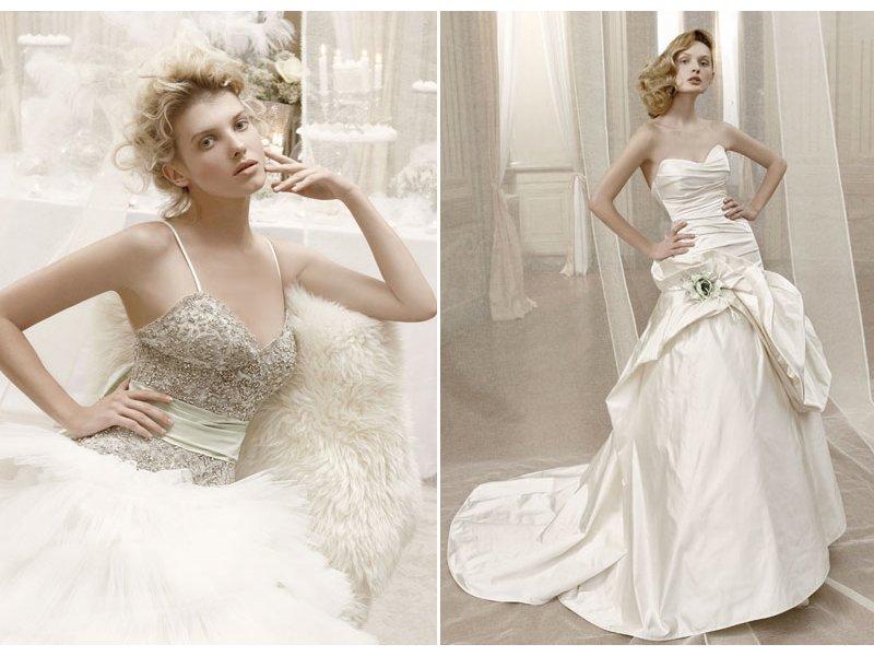 b1b43e9e88 Romantic wedding dress with beaded bridal corset