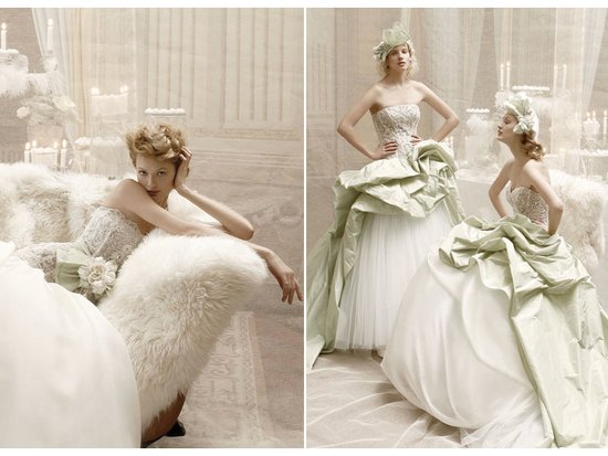 Vintage-inspired dramatic bridal gowns by Atelier Aimee