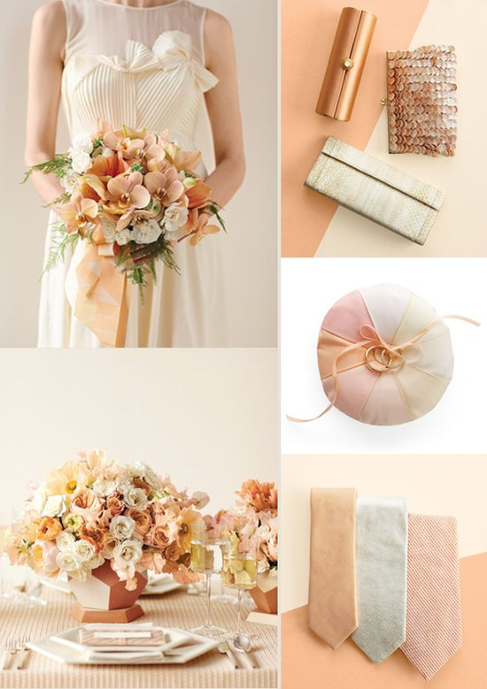 Peaches and cream wedding color palette