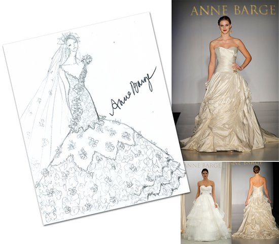 Anne Barge's interpretation of Kim Kardashian's wedding dress