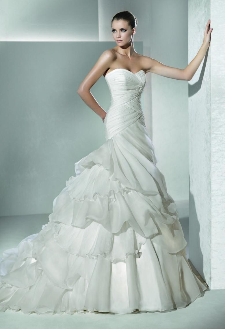 Drop waist strapless mermaid wedding dress for 2012 dresses