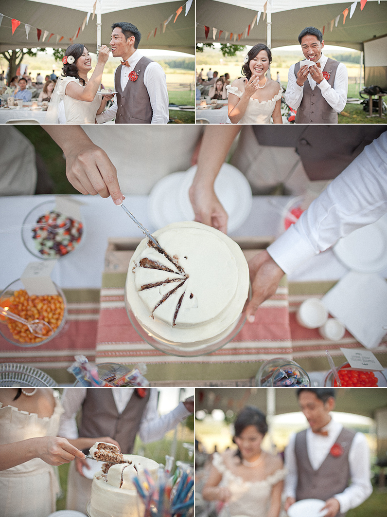 Outdoor-wedding-reception-bride-groom-cut-cake-cropped.original